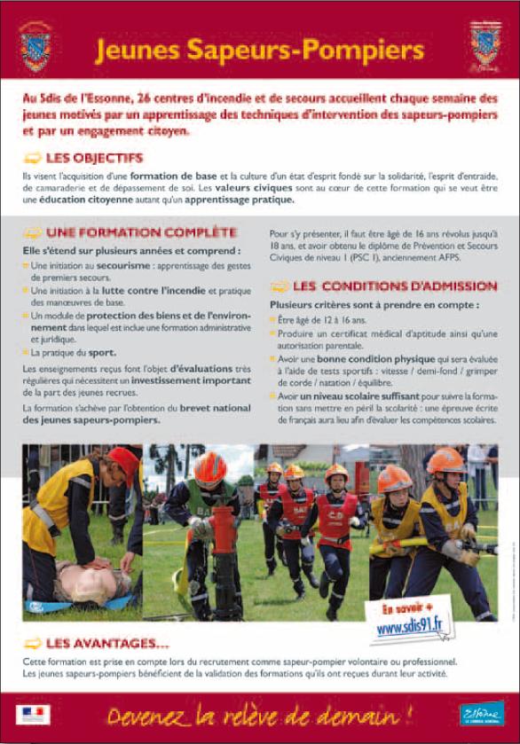 Une formation en 4 niveaux JSP 1 (1ère année) : découverte du matériel incendie et apprentissage des gestes de premiers secours, engagement citoyen et acteurs de la sécurité civile, activités […]