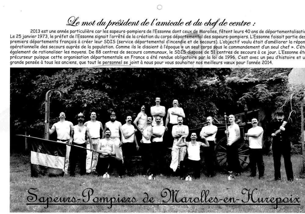 L'amicale des Sapeurs-pompiers de Marolles en Hurepoix a réalisé un calendrier 2014 particulièrement original avec notamment des photos de sapeurs-pompiers actuels dans les tenues d'époques du 19 ème siècle. Félicitations […]